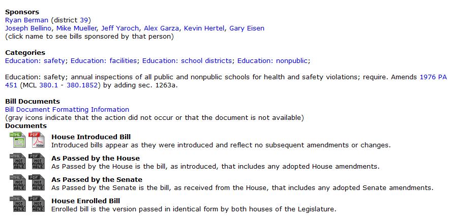 Michigan house bill 4167